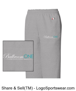Youth Champion Double Dry Fleece Open Bottom Pant. 9 ounce, 50/50 Cotton/Poly Design Zoom